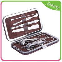 manicure set in the leather case ,H0T036 manicure and pedicure tools and materials , manicure set in bag