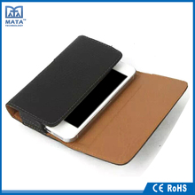 New Design Smart phone back clip mobile phone holster leather flip case for iphone