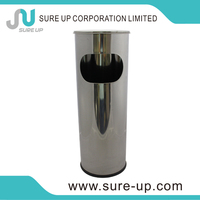 2014 popular dust bin for cars standing cylindrical trash can(DSUH)