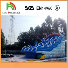 Ocean Curve Wave Water Slide Giant Inflatable Wet Water Slide