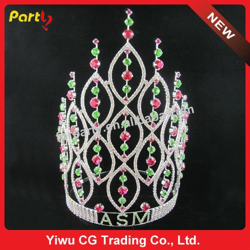CG-HG800 Large real stone crown pageant crown