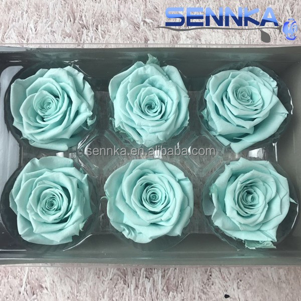 long life fancy white rose head for wedding decoration