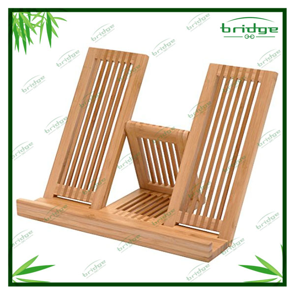 foldable bamboo book rest for household
