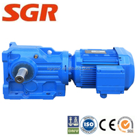electric motor gear reducer right angle helical bevel gear electric motor