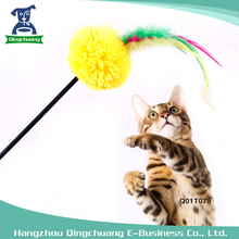Pet Favorite Plush Ball Feather Interactive Cat Toy