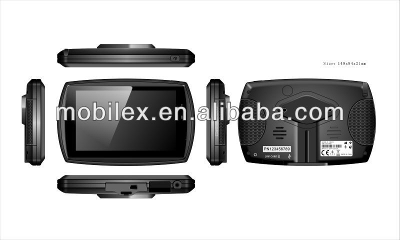"5"" LCD rugged PND GPS taxi dispatch with GSM GPRS,fleet management system,Mobile Data Terminal,telematics (MX512)"