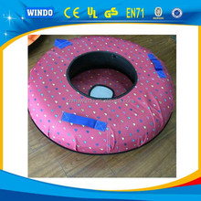 Inflatable winter sport pulling snow sled