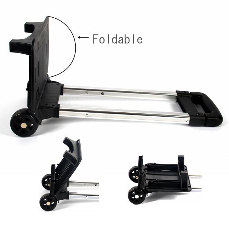Luggage Tag Trolley Luggage Wheels Parts With Folding Wheels For Suitcase
