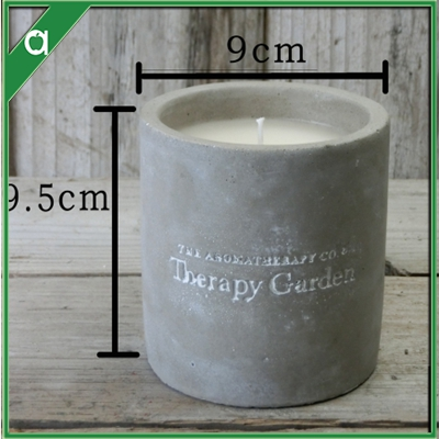 Special Design Soy Blend Wax Scented Concrete Candle