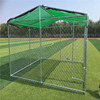 10ft * 10ft * 6 ft Galvanized Outdoor Dog Kennel DIY Chain Link Box Kennel With Roof Frame