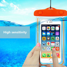 Mobile accessories fluorescence universal Waterproof Bag for iPhone, for samsung mobile phone