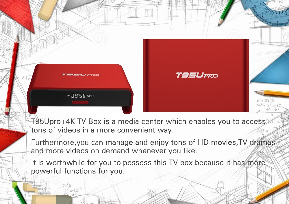 s912 Android TV Box T95U octa core 2g 16g dual wifi tv box