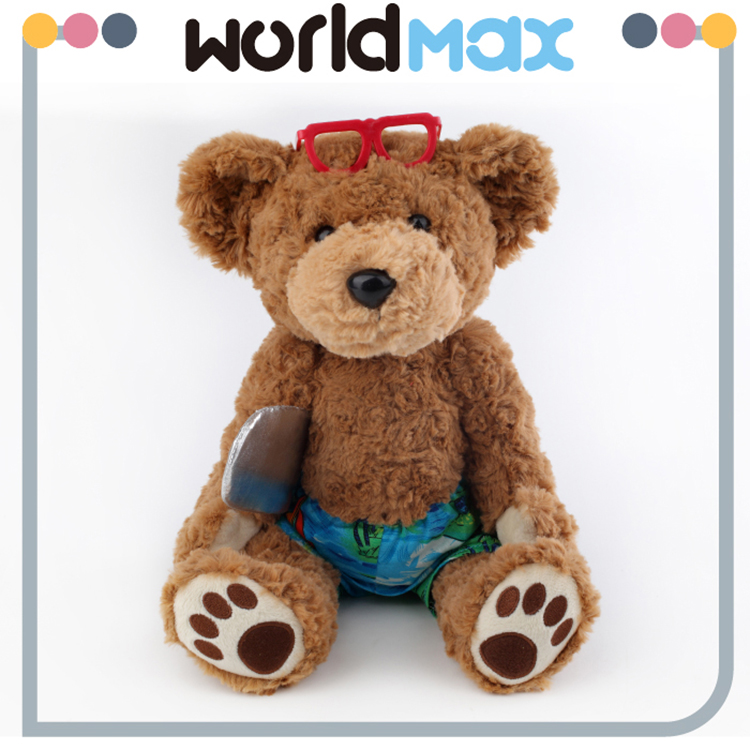 Top Selling Personalized Baby Festival Gift Little Surfer Boy Plush Teddy Bear Toys