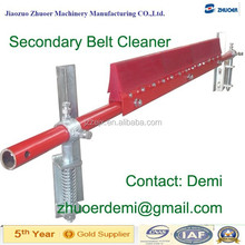 Secondary PU & Alloy Belt Cleaner for Mining Conveyor with Tungsten Carbon Tips