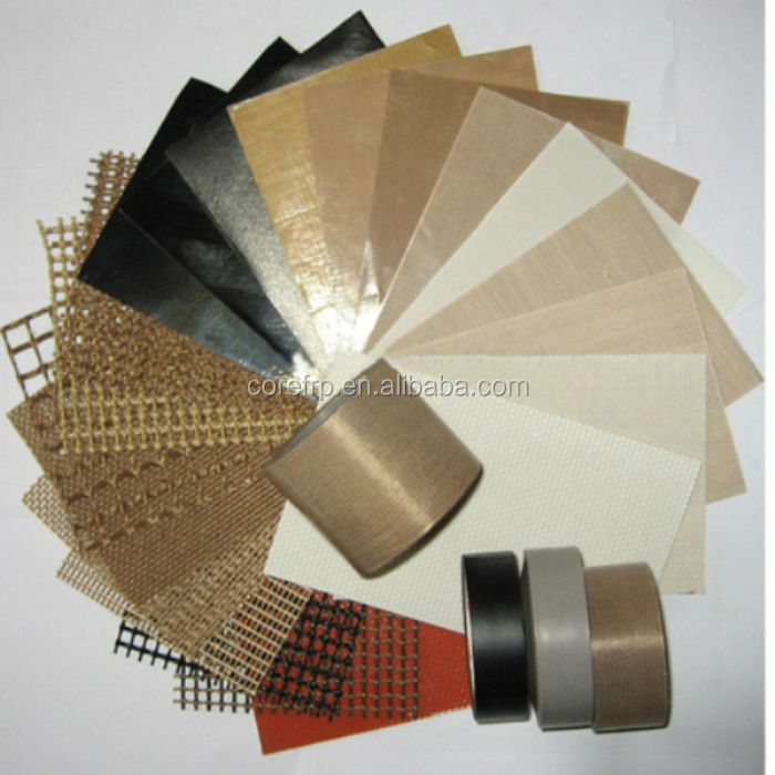 High silica PTFE coated glass fiber fabric