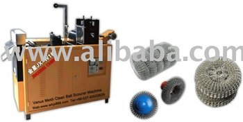 Mesh scourer scrubber making machine