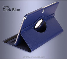 Best sell 360 Degree Rotating Stand Leather Cover Case for iPad with free sample