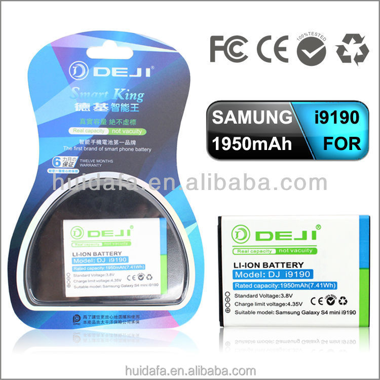 1950mAh 3.8v High quality long life external mobile phone battery charger B500BE for Samsung Galaxy S4 mini