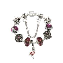Fashion Charm Bracelet Silver with European Beads Charm low price good quality