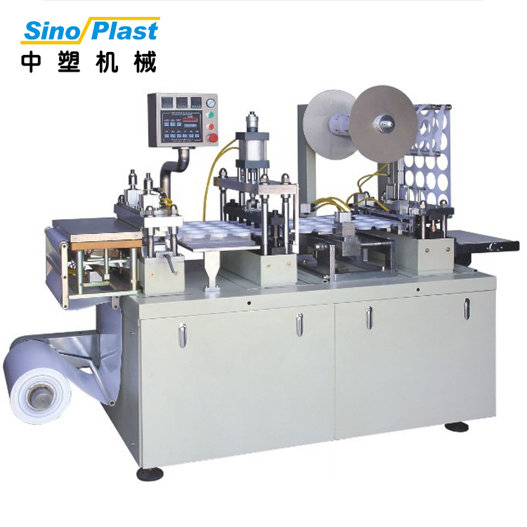 SINOPLAST Wholesale China Goods Plastic PS HIPS Cup/Coffee Cup Lid Making Vacuum Thermoforming Machine