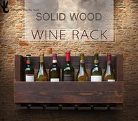 New design wooden wine box ,home used cheap boxes wood wine rack with wall mounted