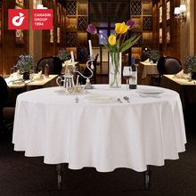 "cotton white damask 132"" round restaurant table cloth"