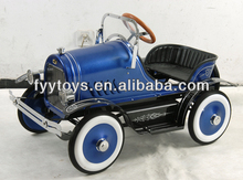 Classic design Childern's Deluxe Metal Pedal car/ Kids Ride on car