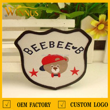 top quality wool embroidered patches for baby clothing