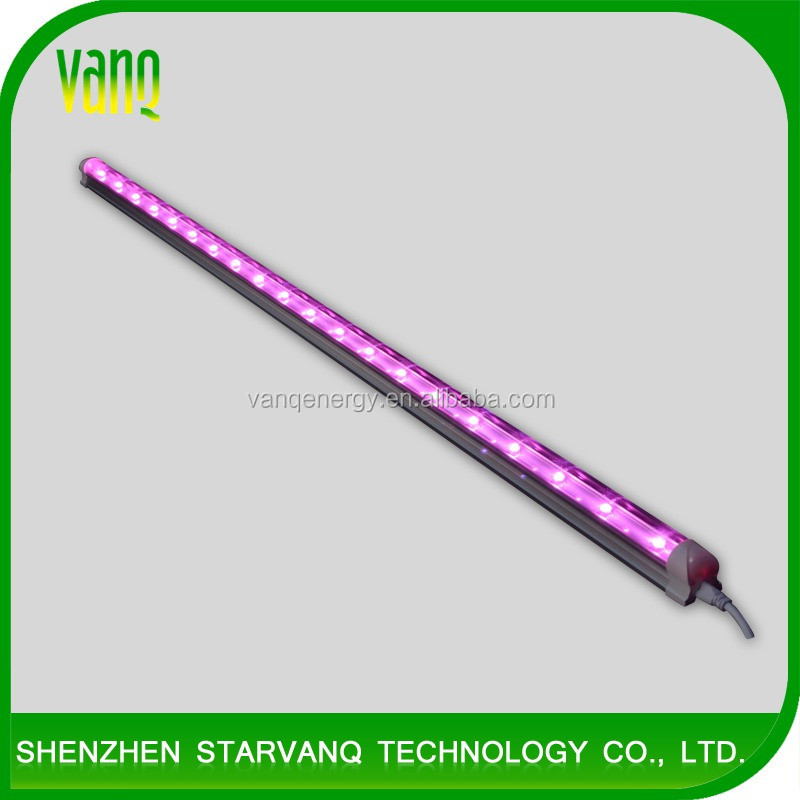 VANQ led grow tube T8 20w for winter flowering,vitroplants,biotechnology plant lab experiment