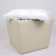 Customization Available Fashion Antique Storage Fabric Leather Storage Ottoman