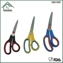 Stainless steel blade scissors soft rubber handle