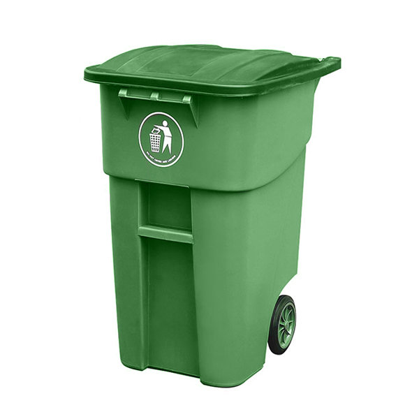 Large Size Covered HDPE Plastic Garbage Outdoor Bin With Wheel