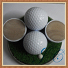 Promotional two piece rubber golf ball with customized logo