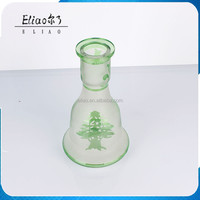 Shisha Accessories Hookah Shisha Narghile Custom Green Glass Bottle