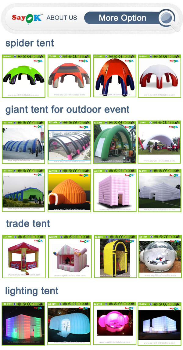 used inflatable tent camping outdoor inflatable spray paint tent for car price