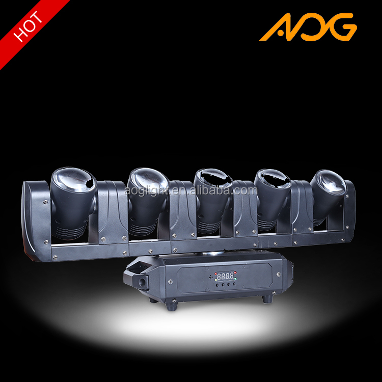New product in stage light market flash light dmx led 5 head beam moving head lights