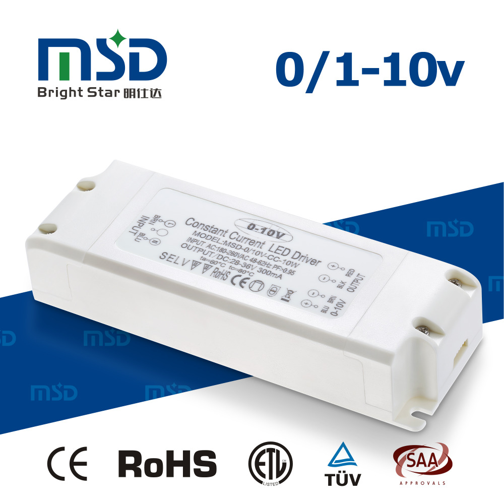 0-10V dimmable 3W 6W 9W 18W 24W 30W 36W 45W 70W 100W 150W 200W 240W 300W 0 1 10v analog 1-10v dimming LED driver