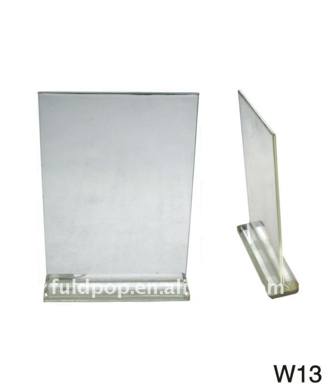 FLD Quality-assured acrylic stand/acrylic price holder/acrylic sign holder