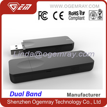 Ogemray 300Mbps 2.4G/5G dual band USB WiFi dongle for smart IP TV