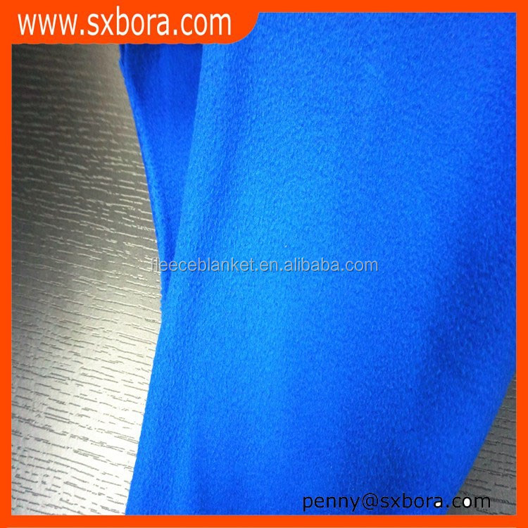 brushed knitted 100 polyester polar fleece fabric