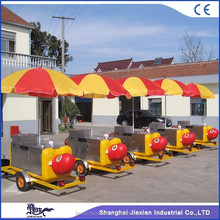 JX-HS230 hand push cart hot dog push cart for sale ice cream cart