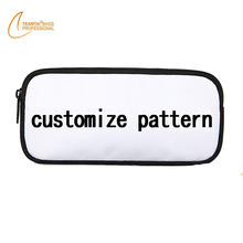 Fashion zipper case pouch cosmetic bag customizable patterns women studuents case