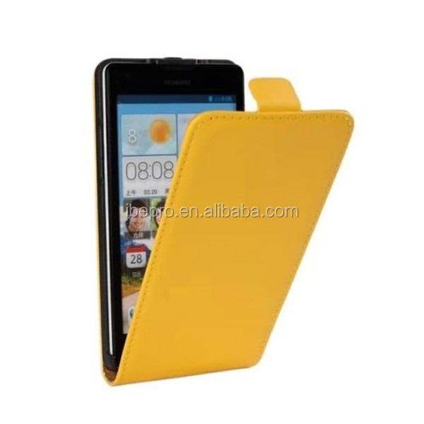 Wholesale Phone Accessory High Quality Ultra Slim Leather Flip Case for Huawei Ascend G700