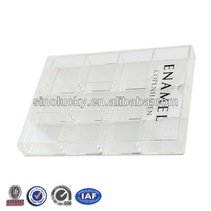 Acrylic Earrings storage Box /Clear Acrylic Display Box , Perspex Display Box with Divider,