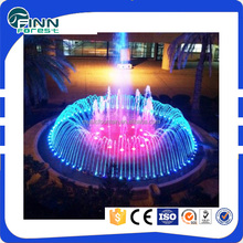 garden pool ornaments stainless steel color changing decorative indoor water fountain