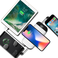New Product Ideas 2018 Qi Wireless Charging Player High Quality Factory Price Wireless Charger Power Bank 4 in 1