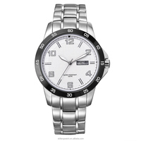 10ATM Vogue stainless steel oem custom made wrist watch with day/date function