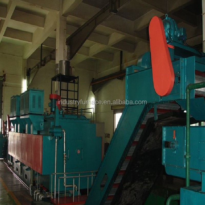 High efficiency continous heat treatment furnace machine for annealing