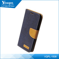Veaqee custom logo mobile phone flip leather case for samsung galaxy s6