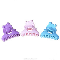 Decorative pig pattern figure cute clamps plastic express hair claw for kid's hair